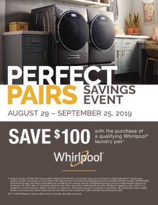 Whirlpool Laundry Savings Event. Save $100